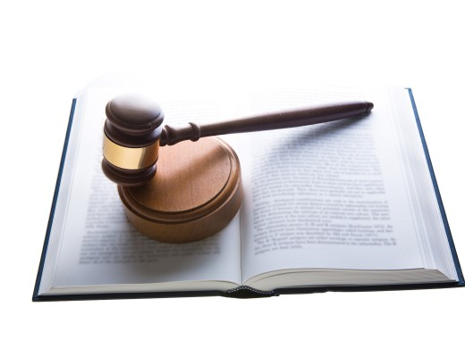 Gavel and book.