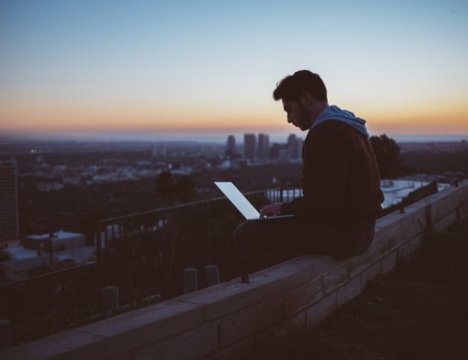 rooftop-computer-sunset